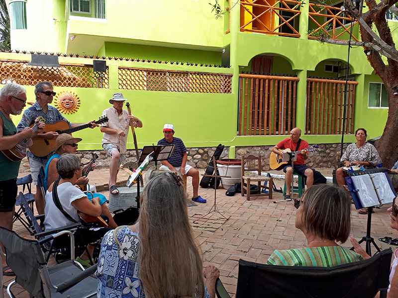 Jamming on the El Pequeno Paraiso Patio